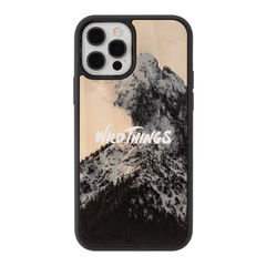 [iPhone 12/12 Pro専用]WILD THINGS(ワイルドシングス) × kibaco Wood Case (SNOW MOUNTAIN)