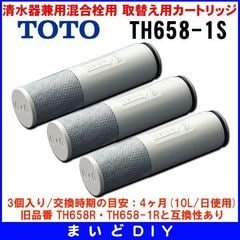 TOTO 清水器取替用カートリッジ(3個入り) TH658-1S[☆]