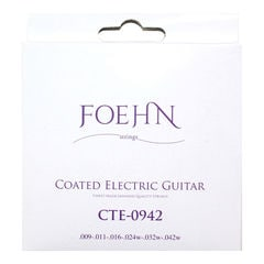 FOEHN CTE-0942 Coated Electric Guitar Strings Super Light コーティングエレキギター弦 09-42