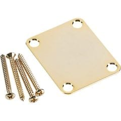 Fender 4-Bolt Vintage-Style Neck Plate No Logo Gold ギターパーツ