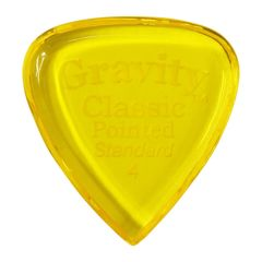 GRAVITY GUITAR PICKS Classic Pointed -Standard- GCPS4P 4.0mm Yellow ギターピック