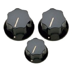 ALLPARTS KNOB 5058 Black Knob Set for Jazz Bass コントロールノブ