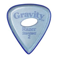 GRAVITY GUITAR PICKS Razer -Standard Elipse Grip Hole- GRAS2PE 2.0mm Blue ギターピック