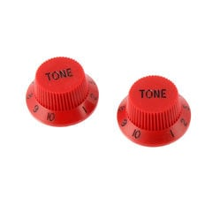 ALLPARTS KNOB 5049 Set of 2 Red Tone Knobs コントロールノブ