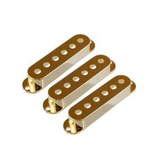 ALLPARTS PICKUP COVER 8209 Set of 3 Gold Pickup Covers for Stratocaster ピックアップカバー