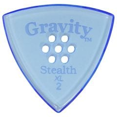 GRAVITY GUITAR PICKS Stealth -XL Multi Hole - GSSX2PM 2.0mm Blue ピック