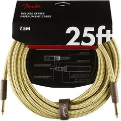 Fender Deluxe Series Instrument Cables SS 25' Tweed ギターケーブル