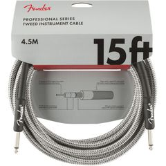 Fender Professional Series Instrument Cable SS 15' White Tweed ギターケーブル