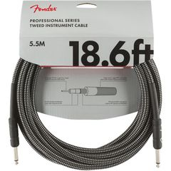 Fender Professional Series Instrument Cable SS 18.6' Gray Tweed ギターケーブル