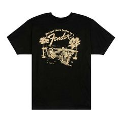 FENDER Get There Faster T-Shirt Black S Tシャツ