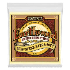 ERNIE BALL 2047 Earthwood Silk & Steel Extra Soft 80/20 Bronze 10-50 Gauge アコースティックギター弦