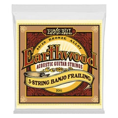 ERNIE BALL 2061 Earthwood 5-String Banjo Frailing Loop End 80/20 Bronze 10-24 Gauge 5弦バンジョー弦
