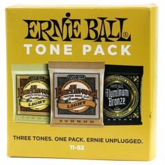 ERNIE BALL 3314 3set Pack Light Acoustic Guitar Strings 11-52 Tone Pack 3種類セットパック アコースティックギター弦