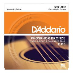 D'Addario EJ15 Phosphor Bronze Extra Light アコースティックギター弦