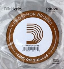 D'Addario PB026弦 Phosphor Bronze バラ弦