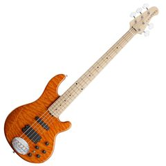 LAKLAND SK-5DX Amber Translucent Maple FB エレキベース