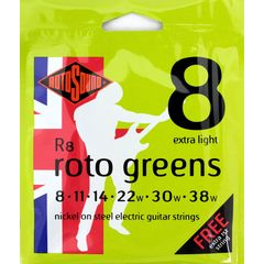 ROTOSOUND ROT-R8 Roto Greens Extra Light エレキギター弦