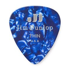 JIM DUNLOP 483 Genuine Celluloid Blue Pearloid Thin ギターピック×12枚