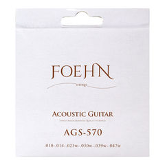 FOEHN AGS-570×6セット Acoustic Guitar Strings Extra Light 80/20 Bronze アコースティックギター弦 10-47