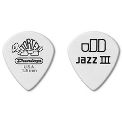 JIM DUNLOP 478R TORTEX PITCH WHITE JAZZ III SHARP 1.50×12枚 ピック