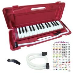 HOHNER MELODICA STUDENT32 RED 鍵盤ハーモニカ&スペア用吹き口セット 【レッスンどれみふぁシールプレゼント】