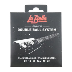 La Bella S942 Extra Light Doble Ball System 09-42 エレキギター弦×3セット