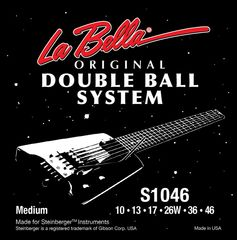 La Bella S1046 Regular Doble Ball System 10-46 エレキギター弦×3セット