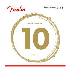 Fender 80/20 Bronze Acoustic Strings Ball End 70XL 010-048 Gauges アコースティックギター弦×3セット