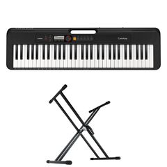 CASIO CT-S200 BK Casiotone 61鍵盤 キーボード キーボードスタンド 2点セット [鍵盤 Aset]
