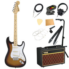 Fender Made in Japan Hybrid 68 Stratocaster Maple 3-Color Sunburst エレキギター VOXアンプ付き 入門11点セット