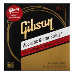 GIBSON SAG-CPB11 Coated Phosphor Bronze Ultra-Light アコースティックギター弦×3セット