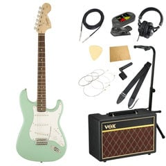 Squier Affinity Series Stratocaster Laurel Fingerboard Surf Green エレキギター VOXアンプ付き 11点 初心者セット