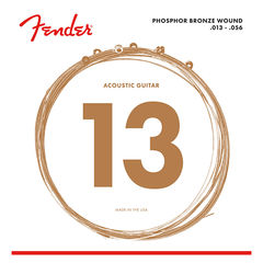 Fender Phosphor Bronze Acoustic Guitar Strings Ball End 60M 013-056 Gauges アコースティックギター弦×6セット