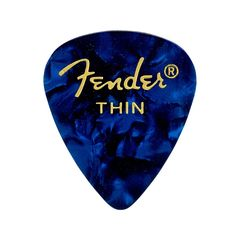 Fender 351 Shape Premium Picks Blue Moto Thin ピック×12枚