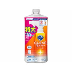 KAO/キュキュット CLEAR泡スプレー 詰替 720ml